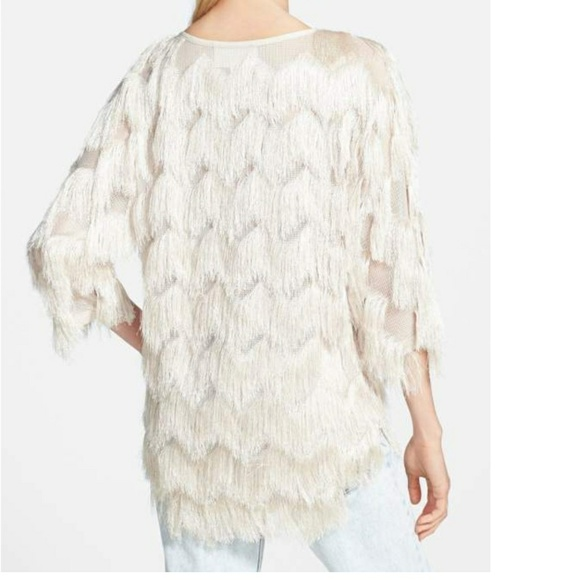 66394158c9 J.O.A. Sweaters - J.O.A. Los Angeles Nordstrom Fringe Sweater Small